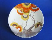 Large Clarice Cliff 'Rhodanthe' Cake Plate c1936 #2